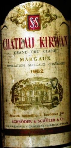 Chateau Kirwan 1959-1962 3me cru classé