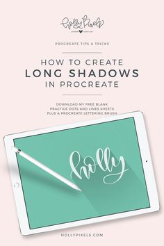 Ever wonder how to create a long shadow in Procreate? The trend of using long shadows has been making a comeback lately. It's a way to give a design depth, but still, have that flat feel to it that's popular. In this post, I'm going to show you how to create a long shadow in Procreate. Visit hollypixels.com for tips and tricks.