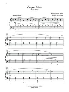 Corpse Bride Main Theme by Danny Elfman Piano Sheet Music ...