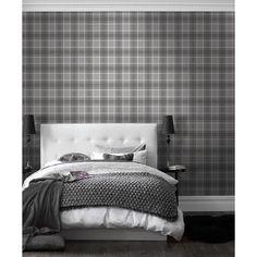 Tartan Wallpaper Soft Grey / Charcoal (ILW980026)