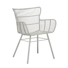 Mauritius Wing Dining Arm Chair Outdoor Chairs, Outdoor Furniture, Outdoor Decor, Winged Armchair, Danish Chair, Dining Arm Chair, Galvanized Metal, Mauritius, Accent Pieces