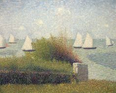 Georges Seurat (1859-1891) La rade de Grandcamp (Le port de Grandcamp) signed 'Seurat' (lower right) oil on canvas 25 ¾ x 32 in. (65.4 x 81.2 cm.) Painted in summer 1885