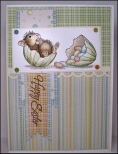 Handmade Easter Card by MasonJarCards on Etsy, $5.00