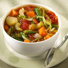 Wow this looks so good! SOUP!  You can make this side-dish soup Southwestern, Italian, or Asian depending on what else you're serving at dinner.