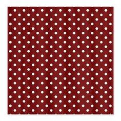 Deep Red with White Dots Shower Curtain > White Dots > MarloDee Designs Shower Curtains