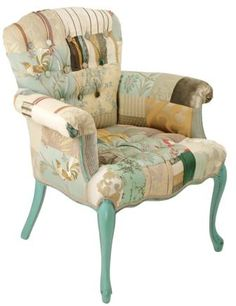 I think this chair by Kelly Swallow is gorgeous. Love the patchwork.