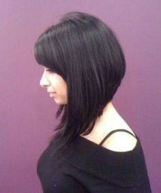 Top 7 Premium Asymmetric Bob Hairstyles With Bangs for Women You Absolutely Can't Miss Bob Hairstyles 2018, Bob Hairstyles With Bangs, Lob Hairstyle, Haircut For Thick Hair, Haircuts For Long Hair, Girl Haircuts, Short Hairstyles For Women, Hairstyle Ideas, Bob Haircuts