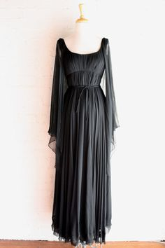 1960s Black Malcolm Starr Evening Gown XS  60s by RetroActiveNOLA