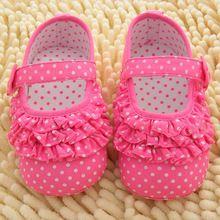 Infantil Bebê Menina Primeiro Walkers Suave Sole Crib Shoes Sneaker Criança Sapatos de Bebê 0-18 Meses(China (Mainland))