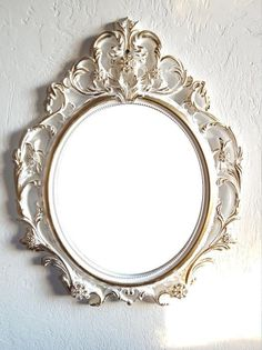 b47cdb0cea76 Free Shipping Large White Gold Wall Mirror  Baroque Mirror  Shabby Chic  Mirror Hollywood Regency Mi