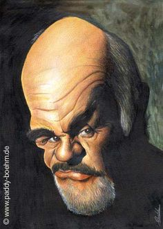 Sean Connery Caricature Paddy Boehm greatest love is his caricatures and apparently he is a Great Musician as well.