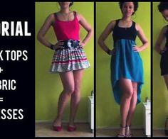 1 MIN TUTORIAL   Create 3 Dresses Using 3 Tank Tops