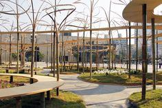toyo ito erects rinbu, a bamboo installation at gwangju design biennale