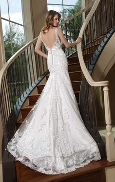 Style 50159 » Wedding Gowns » DaVinci Bridal » Available Colours : Ivory, White (back)