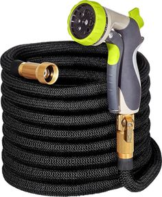 Hospaip Garden Hose - All New Expandable Water Hose with Double Latex Core, Solid Brass Fittings, Extra Strength Fabric - Flexible Expanding Hose with Metal 8 Function Spray Nozzle Backyard Garden Landscape, Backyard Plants, Small Backyard Gardens, Large Backyard, Indoor Garden, Water Pond, Water Garden, Garden Hose, Lawn And Garden