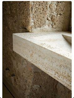 Bathroom…Stone and Concrete, rustic