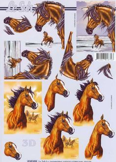 1 A4 sheet of horses decoupage paper This sheet is a step by step sheet which means you are shown which parts to cut out Very easy  Perfect for the