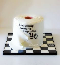 40th Birthday Toilet Paper Cake