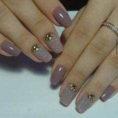 100 really cute glitter nail designs! Love Nails, Pink Nails, Glitter Nails, Pretty Nails, Gel Nails, Nail Polish, Elegant Nails, Stylish Nails, Fabulous Nails