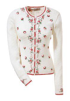 Stockerpoint népviseleti kardigán rátett virágdíszítéssel Bell Sleeves, Bell Sleeve Top, Cooler Look, Mode Online, Trends, Mantel, Knitwear, Sweatshirt, Hoodies