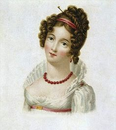 Regency Hairstyle. Pretty standard style, but dressed up.