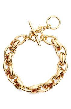 Main Image - kate spade new york 'how charming' chain link bracelet Luxury Jewelry, Modern Jewelry, Vintage Jewelry, Link Bracelets, Wrap Bracelets, Gold Bracelets, Gold Link Bracelet, Bracelet Designs, Fashion Bracelets