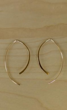 Kris Nations - Jewelry - Kris Nations Arc Hoops - Gold - Cheeky Peach Boutique - 1