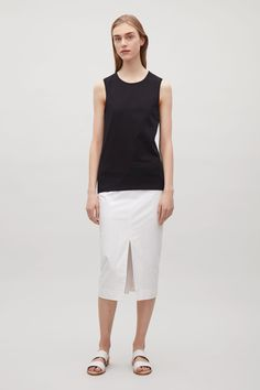 COS image 1 of Jersey vest in Black