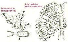lo spazio di lilla: Farfalle crochet con schemi / Crochet butterflies, free patterns