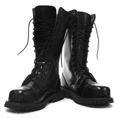 Grinders High Ranger (Herald) Black 14 Hole Mens Safety Steel Toe Boots - £71.24