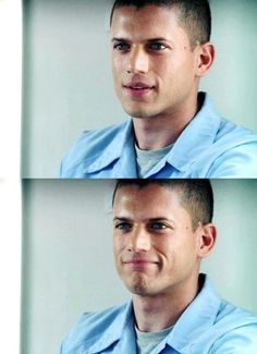 Wentworth Miller in Prison Break - two expressions every Wenty and Prison Break fan knows and loves!