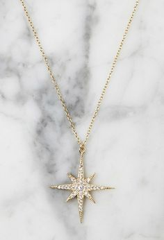 Lucky Star North Star Necklace | Forever 21 - 1000142039