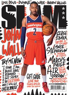 Slam basketball magazine with John Wall: Ca Magazine, Sports Magazine, Magazine Covers, Basketball Photography, Sport Photography, Slam Basketball, Basketball Legends, Wildcats Basketball, Basketball Birthday