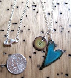 Mother Necklace Copper Enamel Personalized charms and by Steinvika, $55.00