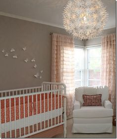 I swear. As soon as I think I've come up with an original idea, I see it in a blog. Oh well. Still love the Jenny Lend crib in white with gray and coral accents.