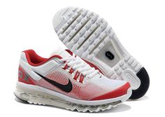 Mens Nike Air Max+ 2013 Gradient White Red Shoes