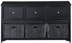 Oxford File Console with Wicker Baskets - File Cabinets - Home Office Furniture - Furniture | HomeDecorators.com