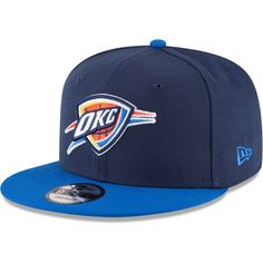 46c664546a0 Men s Oklahoma City Thunder New Era Navy Blue Original Fit Adjustable Snapback  Hat