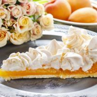 Blooming apricot pie