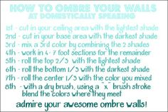 How to Ombre Your Walls @ www.domestically-speaking.com