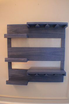ON SALE Perfect Periwinkle Stained Wall Mounted Wine Rack with