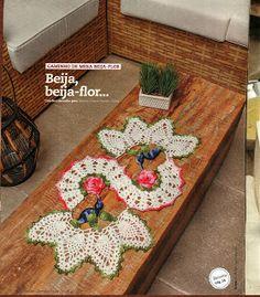 Mania-de-Tricotar: Centro de mesa Beija flor