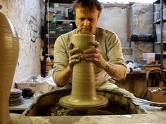 How to throw a big round clay pottery vase