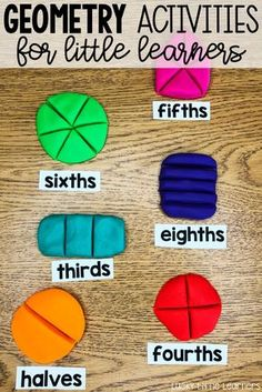 Playdough fractions can be a really fun activity in the classroom! This post explains how this can be done along with some other fun fraction activities! Teaching Fractions, Math Fractions, Teaching Math, Maths, Dividing Fractions, Fractions For Kids, Equivalent Fractions, Teaching Activities, Hands On Activities