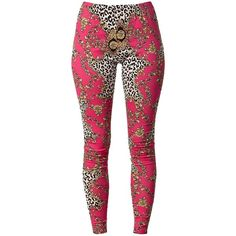 Ax Paris Chain Print Leggings ($24) ❤ liked on Polyvore