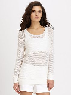 Theory - Tollie Honeycomb Sweater - Saks.com