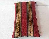 10x20 Handwoven Kilim Lumbar Pillow Turkish Lumbar Pillow throw pillow kilim pillow cover decorative bolster pillow tribal large ethnic wool