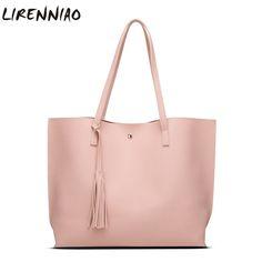 Fashion Tassel Women Shoulder Bags High Quality Soft Pu Leather Handbags Large Capacity Casual Tote Bags Ladies Bags Sac A Main //Price: $32.38 & FREE Shipping //     #WallArt