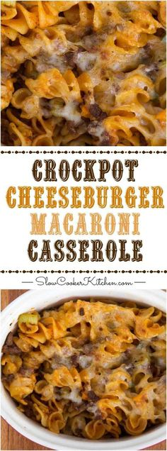 Creamy, cheesy slow cooker deliciousness! Crock Pot Pasta | SlowCookerKitchen.com | https://www.slowcookerkitchen.com
