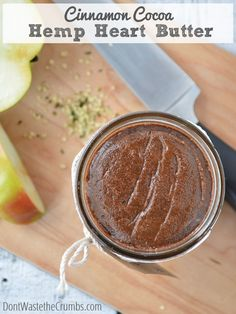 Cinnamon Cocoa Hemp Heart Butter - A creamy, cinnamon-y, chocolate-y smooth hemp heart butter that folks with or without nut allergies will love. The perfect nut-free butter for your pantry. Hemp Recipe, Hemp Seed Butter Recipe, Hemp Seed Recipes, Whole Food Recipes, Cooking Recipes, Cereal Recipes, Hemp Hearts, Vegetarian Recipes, Healthy Recipes